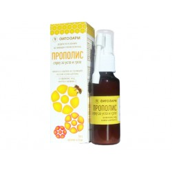 Propolis oral spray for mouth and throat