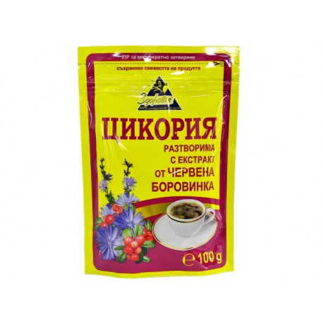 Цикория, разтворима с червена боровинка - 100 гр.