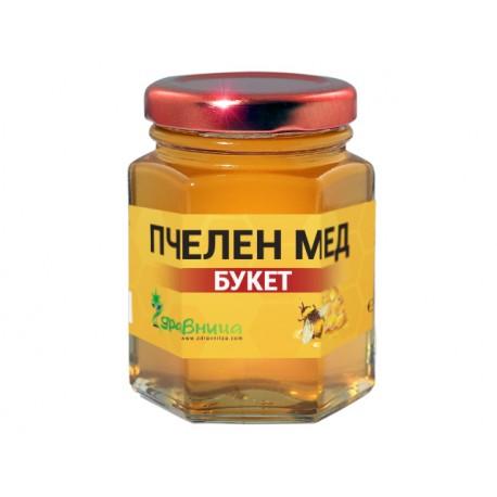 Натурален пчелен мед, Букет, Здравница - 250 гр.