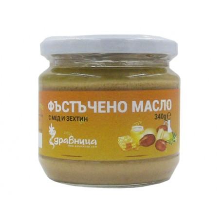 Фъстъчено масло с мед и зехтин, Здравница - 340 гр.