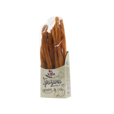 Гризини с пипер и лук, ръчно направени - 170 гр.
