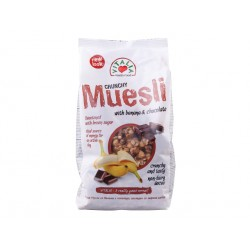 Crunchy Muesli with banana, chocolate and brown sugar - 320 g