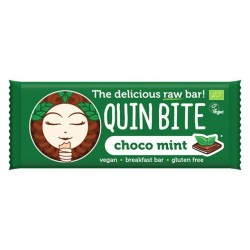 Choco Mint Raw Vegan Bar, QuinBite - 30 g