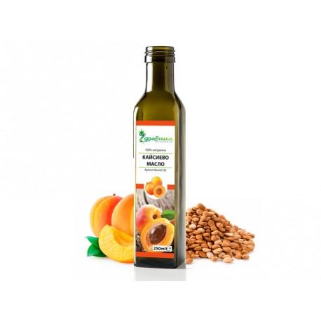 Кайсиево масло, студено-пресовано, Здравница - 250 мл.