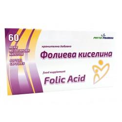 Folic Acid, PhytoPharma, 60 capsules