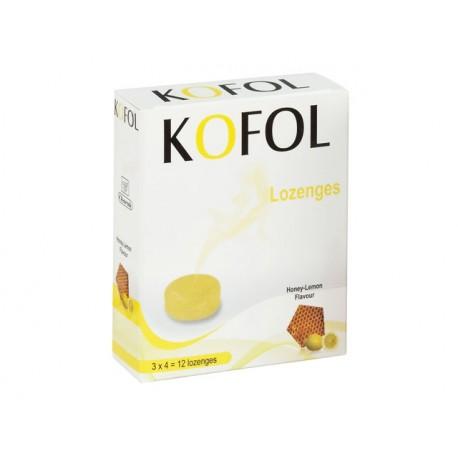 Кофол, бонбони за гърло, с аромат на мед и лимон, Чарак, 12 бонбона