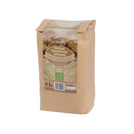 Natural brown wheat flour, 1 kg