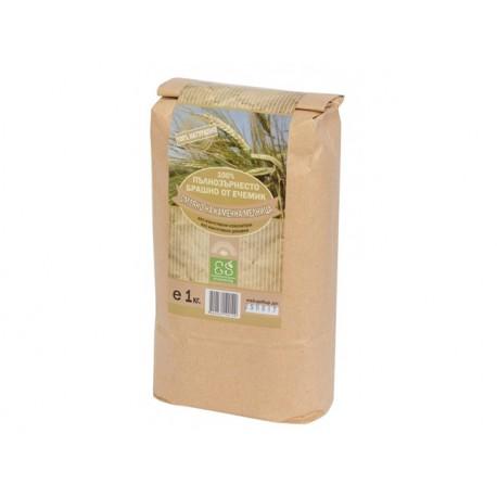 Натурално пълнозърнесто брашно от ечемик, Екосем, 1 кг.