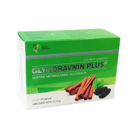 Глюкоравнин Плюс, за нормална кръвна захар, 40 капсули