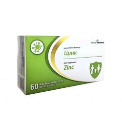 Цинк, хранителна добавка, ФитоФарма, 60 капсули