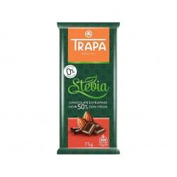 Тъмен шоколад 50% със стевия и малтитол, Трапа, 75 гр.