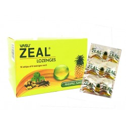 Zeal Plus, cough and sore throat, 60 lozenges