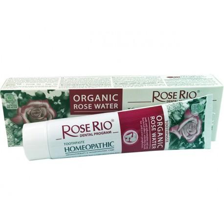 Хомеопатична паста за зъби с БИО розова вода, RoseRio, 75 мл.