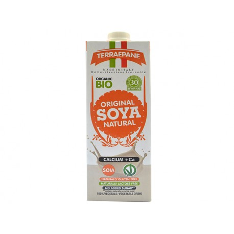 BIO Soya milk with calcium, natural, 1 liter
