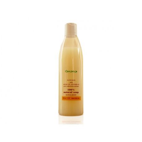 Liquid bath soap with vetiver and citronella oil, Biolo, 300 ml
