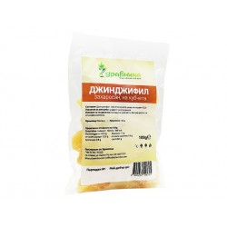 Candied ginger, pieces, Zdravnitza, 100 g