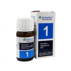 Минерална сол №1, Калциум флуоратум, Биохерба, 230 таблетки
