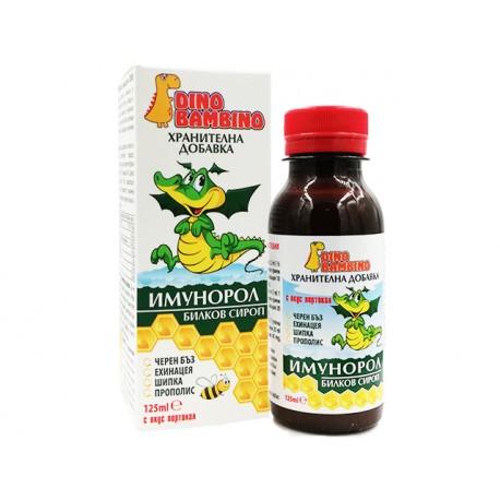 Имунорол, билков сироп за деца и възрастни, Дино Бамбино, 125 мл.