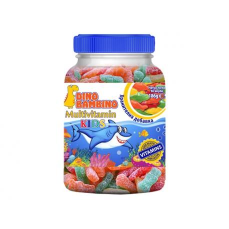 Желирани мултивитамини за деца, Дино Бамбино, 60 бонбона