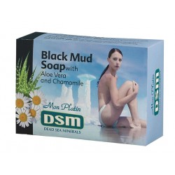 Black Mud Soap, with aloe vera and Chamomile, DSM, 125 g