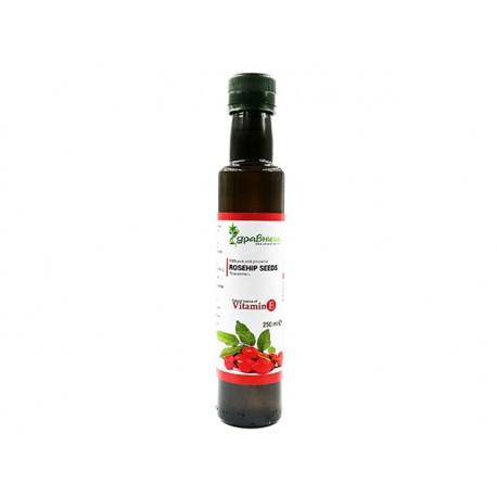 Шипково масло, от семена, студено пресовано, Здравница, 250 мл.