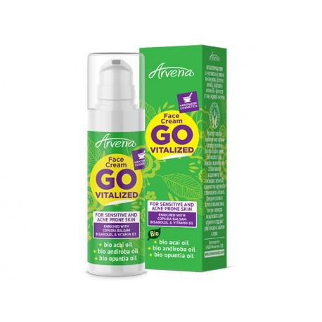 Go Vitalized, face cream with acai, andiroba and opuntia oil, 30 ml