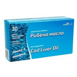 Cod Liver oil (Omega-3), 1000 mg, PhytoPharma, 30 capsules