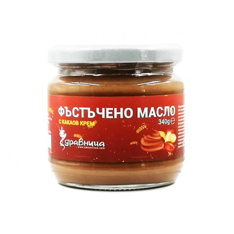 Peanut butter, with cocoa cream, Zdravnitza, 340 g