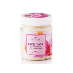 Маска за лице с витамини А и Е, за нормална кожа, Христина, 200 мл.