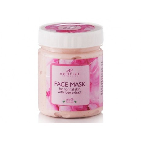 Face Mask for normal skin with Rose extract, Hristina, 200 ml