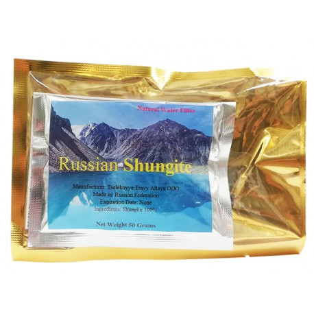Russian Shungite, natural water filter, 50 g
