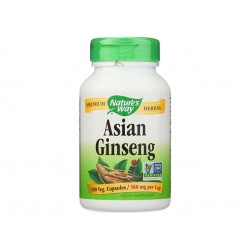 Asian Ginseng, root extract, Nature's Way, 50 capsules