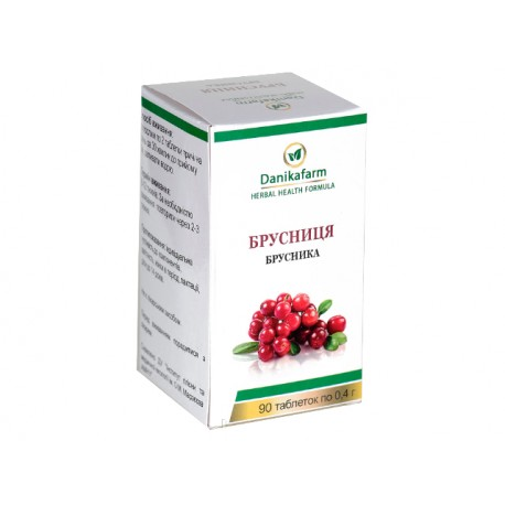 Cranberry - leaves, Greenset, 90 tablets