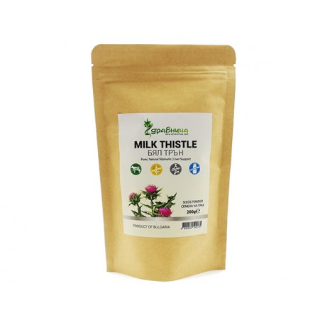 Milk thistle, seeds powder, pure, Zdravnitza, 200 g