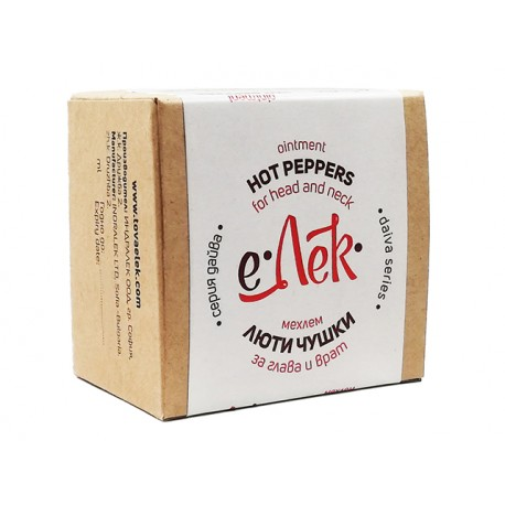 Hot peppers ointment, for head and neck, eLek, 20/40 ml