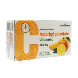 Аскорбил палмитат, мастно разтворим Витамин С, ФитоФарма, 30 капсули