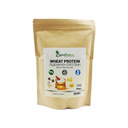 Wheat protein isolate, pure, powder, Zdravnitza, 400 g