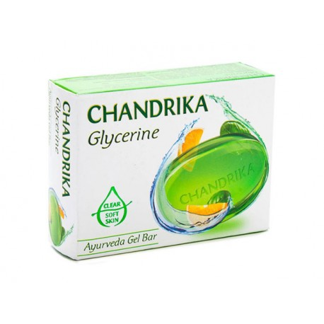Glycerine Ayurveda Gel Bar, Chandrika, 75 g