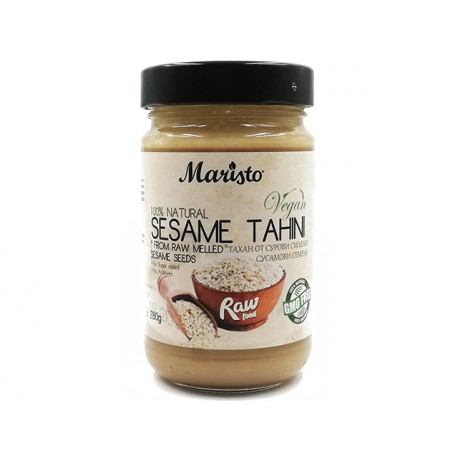 Sesame tahini, from raw sesame seeds, Maristo, 280 g