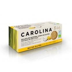 БИО пълнозърнести бисквити с ананас и кокос, Каролина, 115 гр.