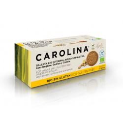 БИО пълнозърнести бисквити с киноа и канела, Каролина, 115 гр.