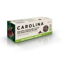 БИО пълнозърнести бисквити с шоколад и и кокос, Каролина, 135 гр.
