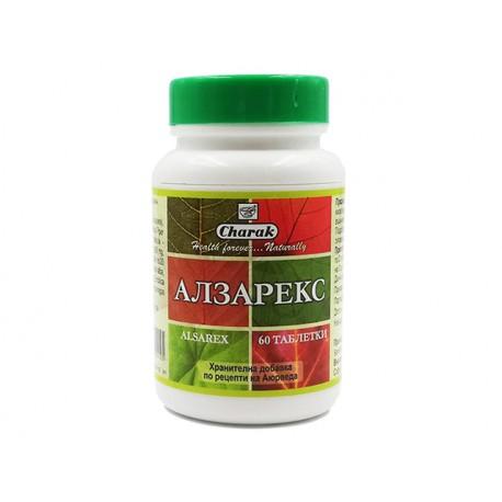 Алзарекс, при язва и киселини, Чарак, 60 таблетки