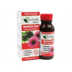 Immuno Max, syrup with echinacea, elderberry and vitamin C, 125 ml