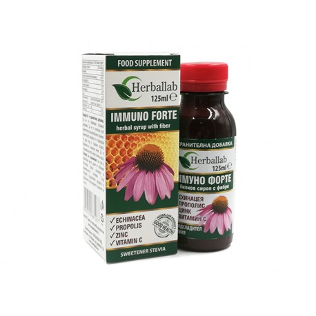 Immuno Forte, syrup with echinacea, propolis and zinc, 125 ml