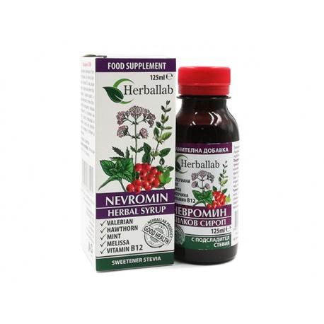 Невромин, билков сироп за нервната система, Хербаллаб, 125 мл.