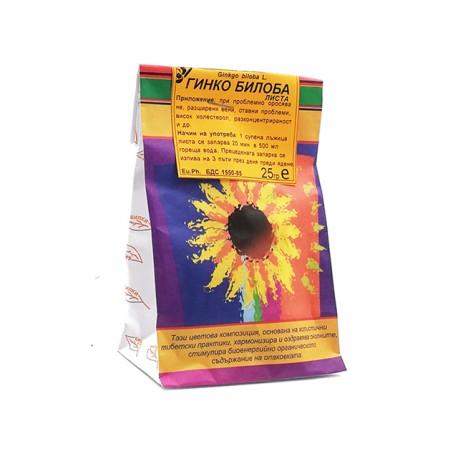Гинко билоба, изсушени листа, Билкария, 25 гр.