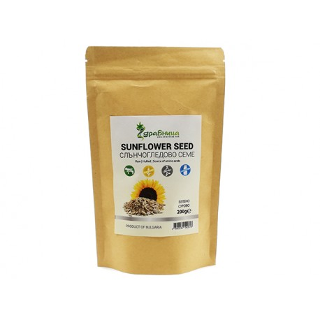 Sunflower seedd, raw, hulled, Zdravnitza, 200 g