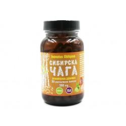 Сибирска Чага, екстракт, 90 растителни капсули