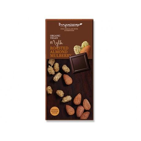 BIO Chocolate - roasted almond mulberry, vegan, Benjamissimo, 70 g